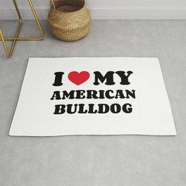 American Bulldog Rug