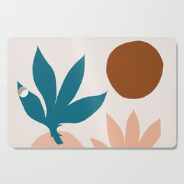 Abstraction_Floral_Shape_001 Cutting Board