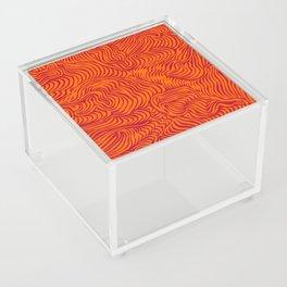 orange red flow Acrylic Box