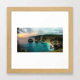 Atuh Sunrise Framed Art Print