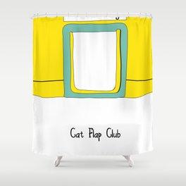 Cat Flap Club Shower Curtain