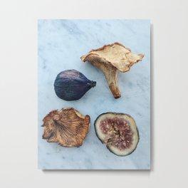 Fig & Chanterelle Metal Print