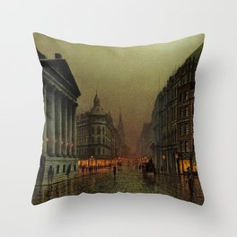 Mansion House, London, England Cityscape by Louis H. Grimshaw Throw Pillow