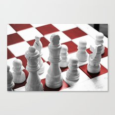 Chess - Red Canvas Print
