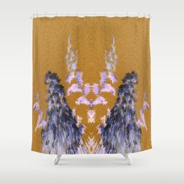 3-D Crepe Myrtle Inversion Shower Curtain