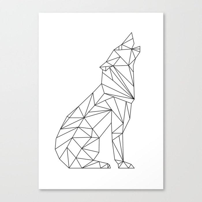 Geometric Wolf Canvas Print by paintxprint | Society6