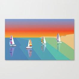 Sailing on the Beach Canvas Print