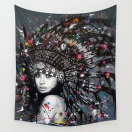 INDIAN--GIRL Wall Tapestry