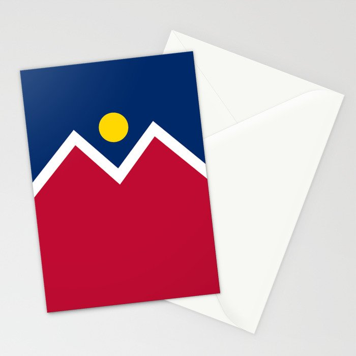 Denver, Colorado city flag - Authentic High Quality Stationery Cards