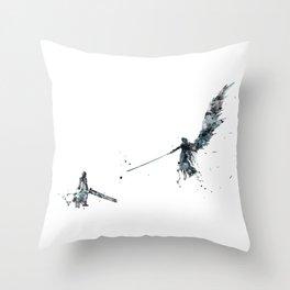 Final Fantasy Watercolor Throw Pillow