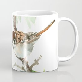 Sparrows And Apple Blossom Coffee Mug
