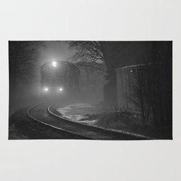Train In The Fog Rug