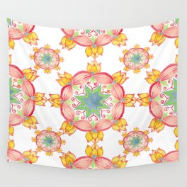Yellow lotus Mandala Wall Tapestry