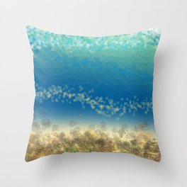 Abstract Seascape 04 wc Throw Pillow