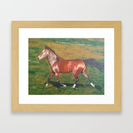 The Adventurous Horse Framed Art Print