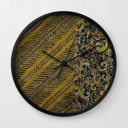 Batik Parang Filigree Wall Clock