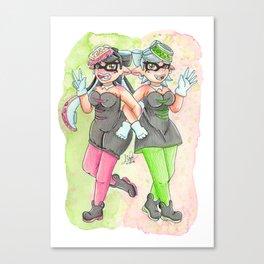 Squid Sisters - Callie & Marie Canvas Print