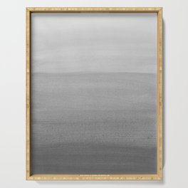Touching Black Gray White Watercolor Abstract #2 #painting #decor #art #society6 Serving Tray