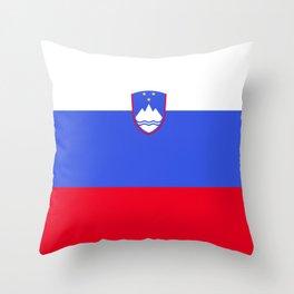 Slovenia flag emblem Throw Pillow