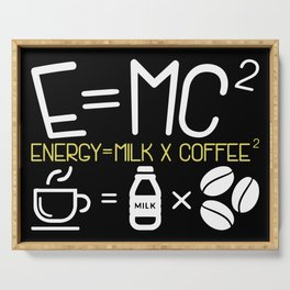 Coffee & Physic: Energy Milk Coffee Equation Serving Tray