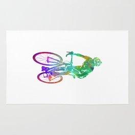 Woman triathlon cycling 05 Rug