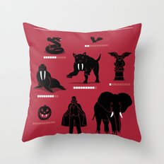 Vampire Threat Levels Throw Pillow