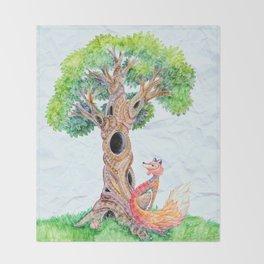 The Spirit Tree V2 Throw Blanket