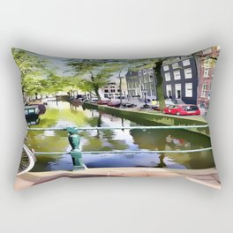 Amsterdam Canal Rectangular Pillow
