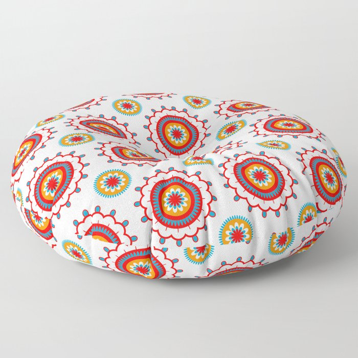 Retro Flower Floor Pillow