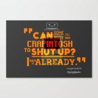 glados Canvas Prints featuring Googol GLaDOS 2.0 - Crapintosh Typography by hako