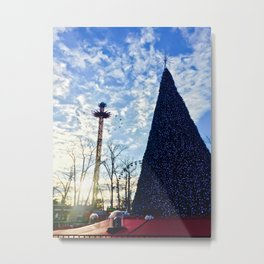 Christmas in the Park Metal Print