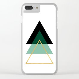 GEOMETRIC ABSTRACT HOLLOW PYRAMIDS TRIANGLE Clear iPhone Case
