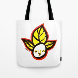 Yellow Leaf Babe Tote Bag