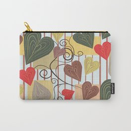 Hearts on Vines Carry-All Pouch