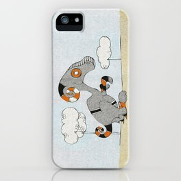 Kangaroo Go-Go Grey iPhone Case