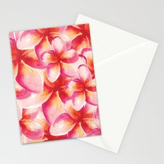 Plumeria Floral Watercolor Stationery Cards
