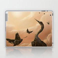 Crane and moth  Laptop & iPad Skin