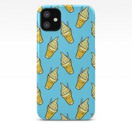Sweet Little Pineapple Floats on Blue iPhone Case