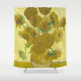 Sunflowers (Vincent Van Gogh series) Shower Curtain