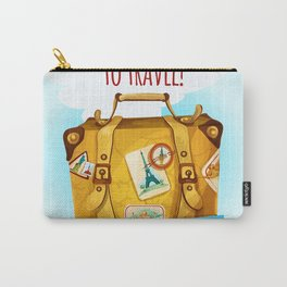Travel Concept With Suitcase Carry-All Pouch