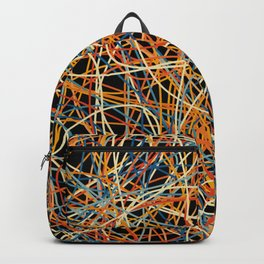Colored Line Chaos #15 Backpack