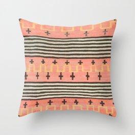 Vintage Southwest Blanket Print Throw Pillow