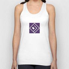 Basslock Logo (Purple) Unisex Tank Top