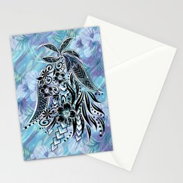 Hawaiian Tribal Floral Stationery Cards