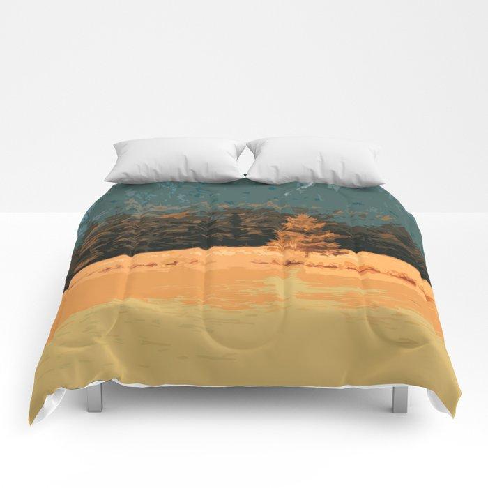 Königssee Orange Sunset Comforters