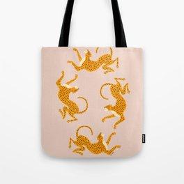 Leopard Race - pink Tote Bag