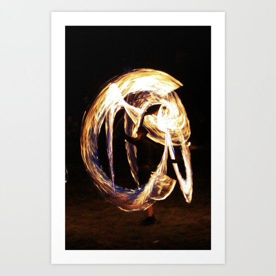 FIRE DANCE 2 Art Print