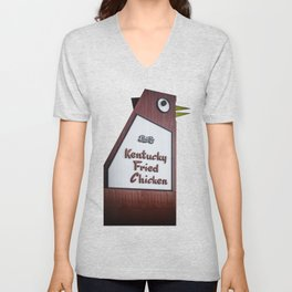 Bet You're Chicken Unisex V-Neck