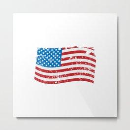 United States of America Grunge Flag Metal Print