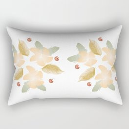 Autumn flowers - orange and ochre Rectangular Pillow